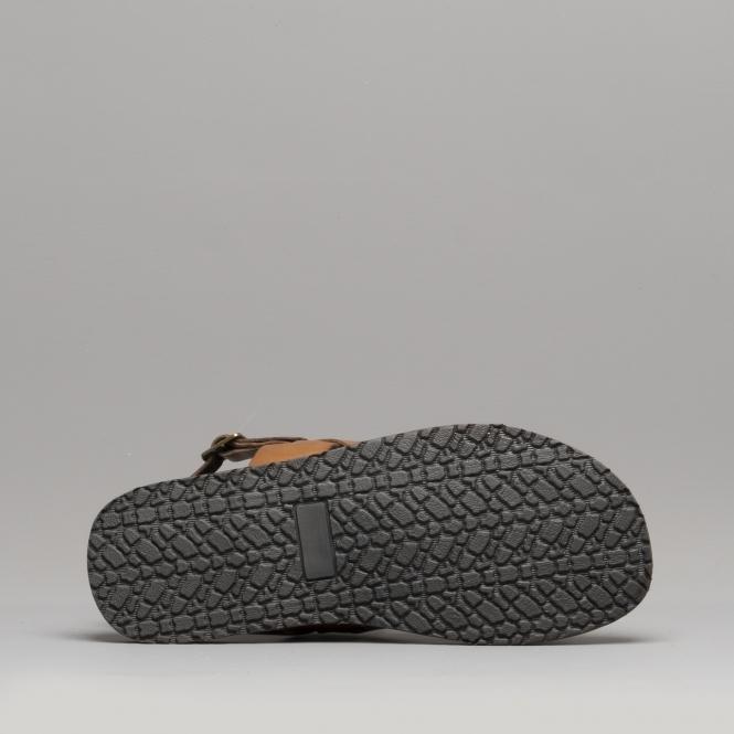 Base London Titas Tan Leather Mens Sandals Shoes