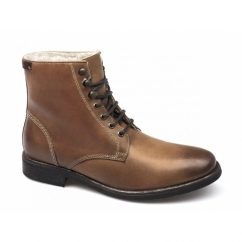 Base London VICTORIA Mens Leather Derby Boots Tan