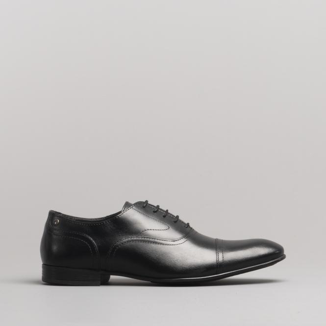 12456bc6ed64 Base London VIOLA Mens Leather Toe Cap Shoes Waxy Black