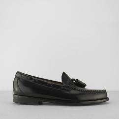 a80346d9640 G.H. Bass   Co. Weejuns LARKIN Mens Moccasin Tassel Loafers Shoes Black