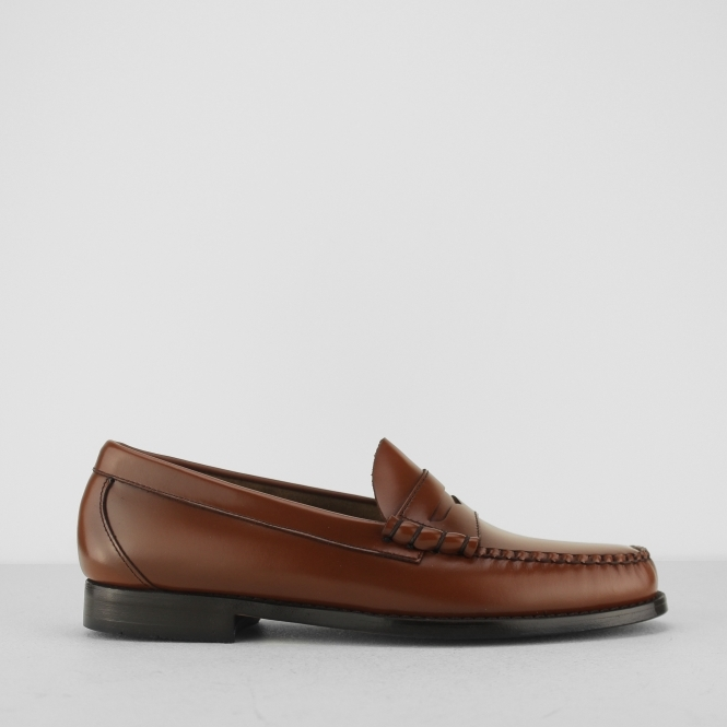 Weejuns LARSON Mens Leather Penny Loafers Mid Brown