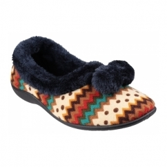 BAYEUX Ladies Full Slippers Navy