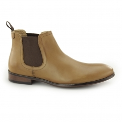 BEESTON Mens Leather Chelsea Boots Tan