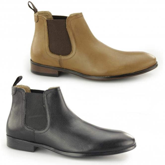 1458007c981 BEESTON Mens Leather Chelsea Boots Tan