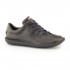 BEETLE Mens Leather Lace Up Trainers Brown