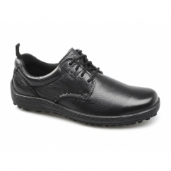 BELFAST OXFORD Mens Leather Casual Shoes Black