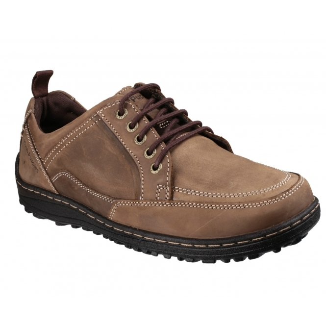 Hush Puppies BELFAST OXFORD Mens Leather Casual Shoes Brown Nubuck