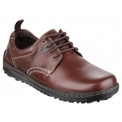 BELFAST OXFORD PT Mens Leather Casual Shoes Brown