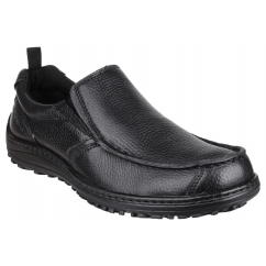 BELFAST SLIP ON MT Mens Leather Casual Shoes Black