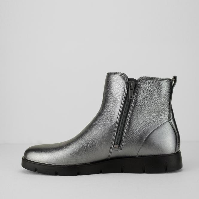 dc3d45bf BELLA BOOT Ladies Leather Zip Up Boots Dark Shadow