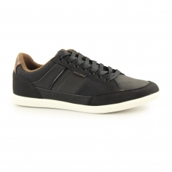 BELMONT Mens PU/Canvas Trainers Anthracite