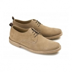BENJAMIN Mens Leather Lace-Up Shoes Taupe