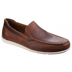 BENNETT LANE 4 Mens Leather Loafers Cognac