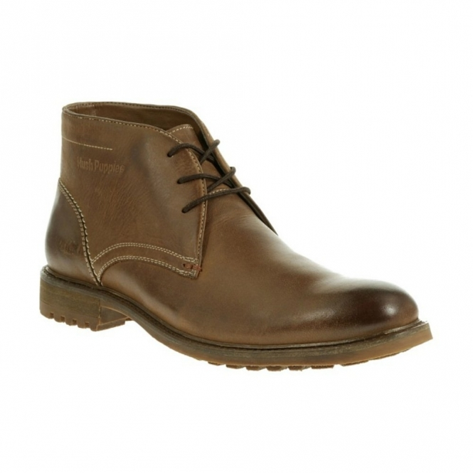 Hush Puppies BENSON RIGBY Mens Wide Fit Chukka Boots Tan