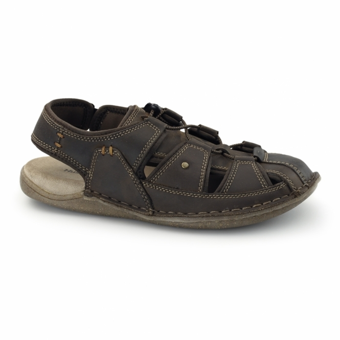 Hush Puppies BERGEN GRADY Mens Leather Sports Sandals Brown