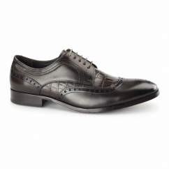 BIANCO Mens Leather Derby Brogues Brown