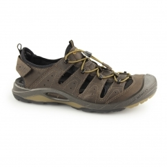 BIOM DELTA Mens Leather Trail Sandal Shoes Coffee