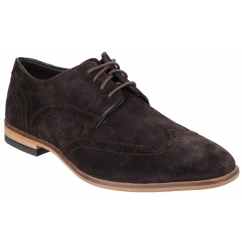 BIRCH LAKE Mens Suede Derby Shoes Choco
