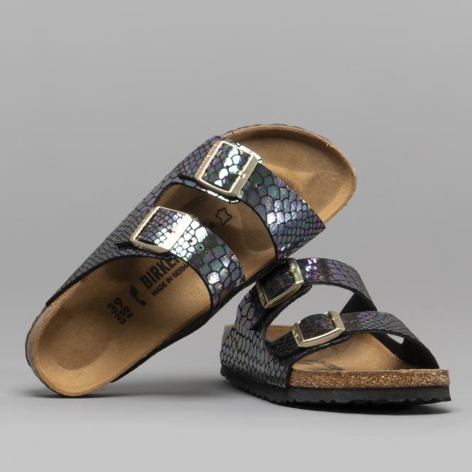 a58e0d67159 Birkenstock ARIZONA 1003463 Ladies Narrow Fit Sandals Snake Black Multi