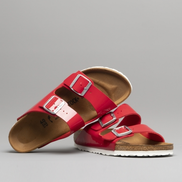 87bdb9cdd12 Birkenstock ARIZONA 1005283 Ladies Two Strap Sandals Tango Red