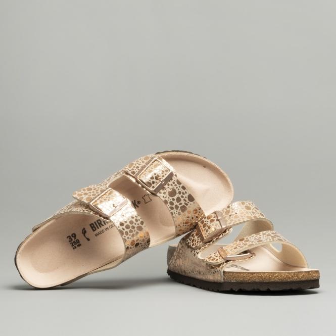 5f4702bae Birkenstock ARIZONA 1006685 Two Strap Sandals Metallic Stones Copper ...