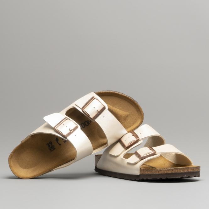 6daabf7d682b9 Birkenstock ARIZONA 1009921 Ladies Two Strap Sandals Pearl White ...