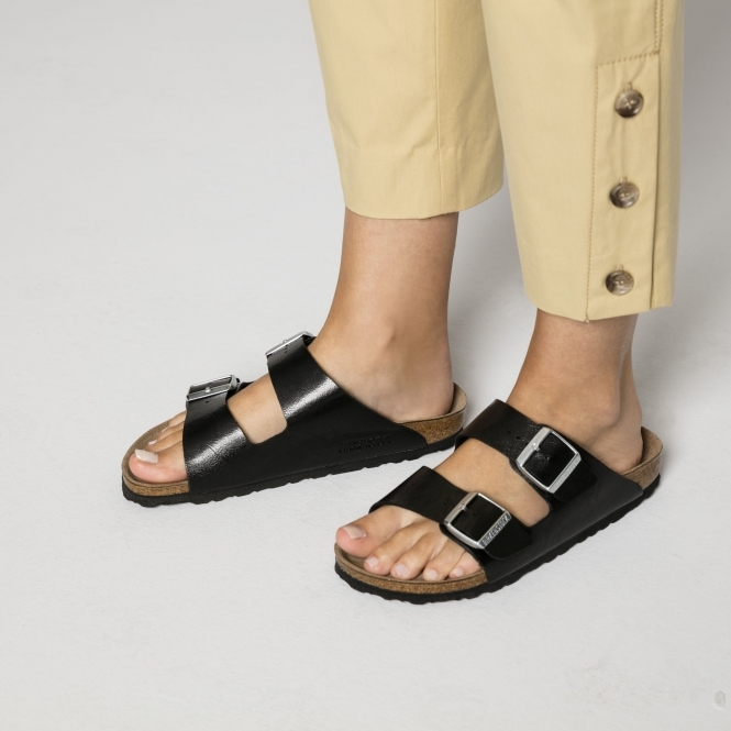e566c011759 Birkenstock ARIZONA 1009925 Ladies Two Strap Sandals Licorice