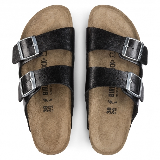 4a28a24a46 Birkenstock ARIZONA 1009925 Ladies Two Strap Sandals Licorice