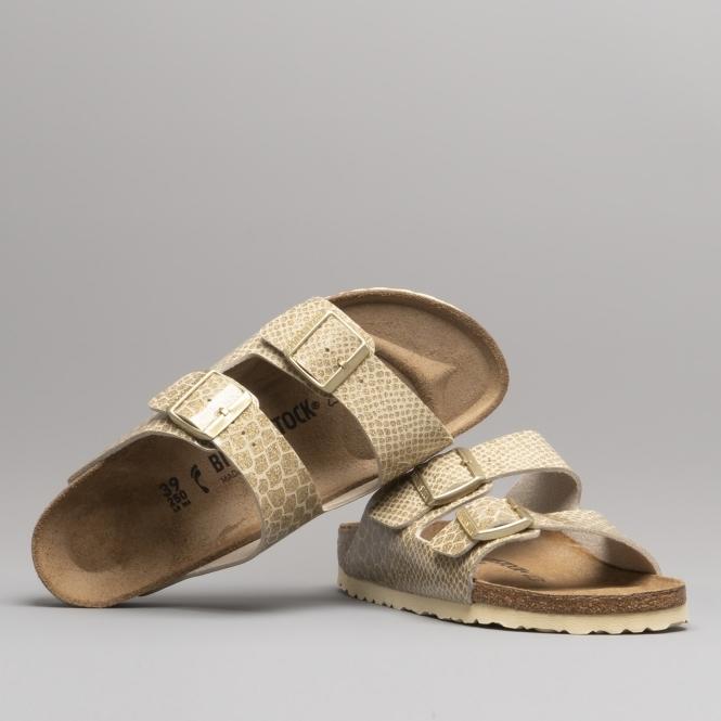849618af13a5b6 Birkenstock ARIZONA 1011765 Sandals Magic Snake Gold
