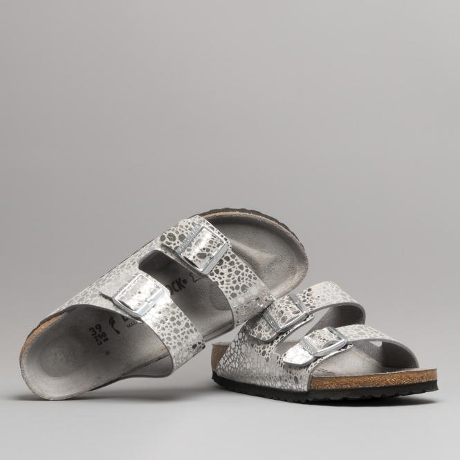 6d2c780220b Birkenstock ARIZONA 1011913 Sandals Metallic Stones Silver