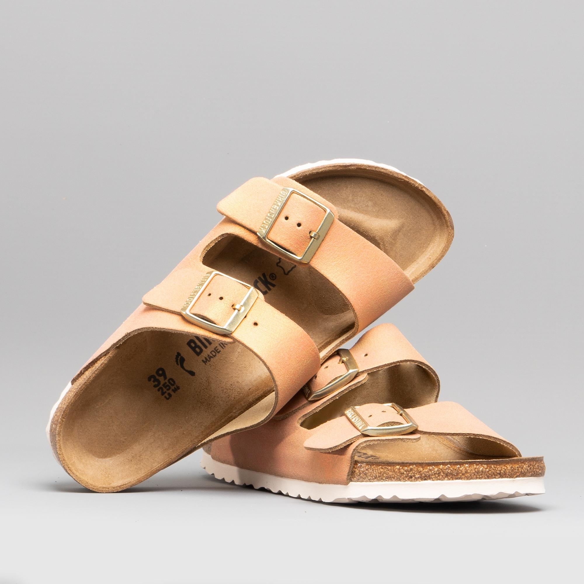 0555df0cd947 Birkenstock ARIZONA 1012902 (Nar) Ladies Suede Two Strap Sandals Washed  Metallic Sea Copper | Shuperb
