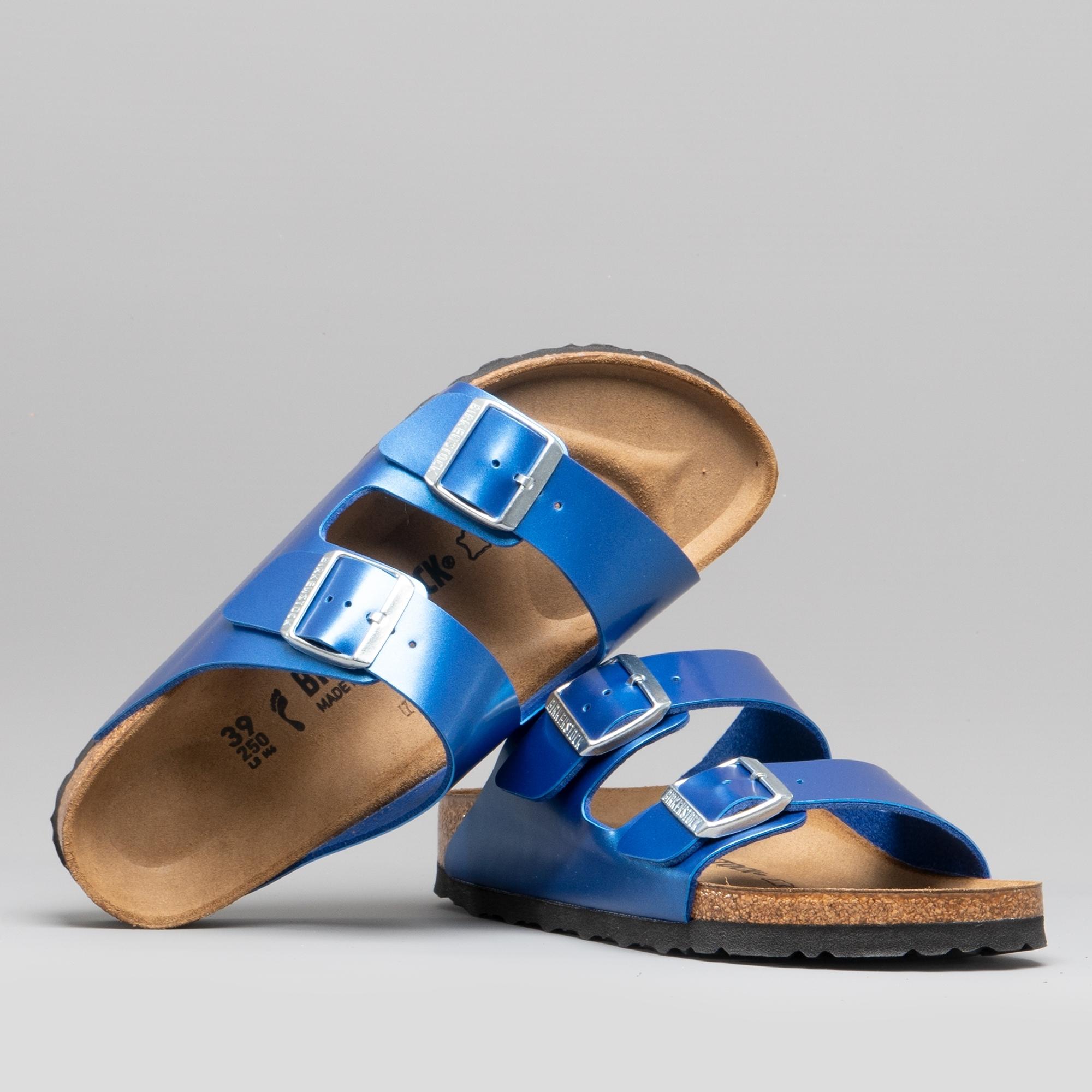 a4c440de2a98d Birkenstock ARIZONA 1012970 (Nar) Ladies Birko-Flor Two Strap Sandals Electric  Metallic Ocean   Shuperb