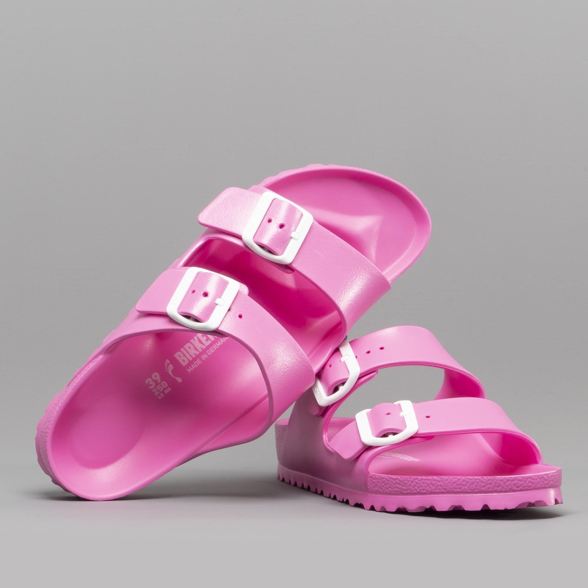 d5c5b2fddfa Birkenstock ARIZONA 129533 Ladies Two Strap Sandals Neon Pink