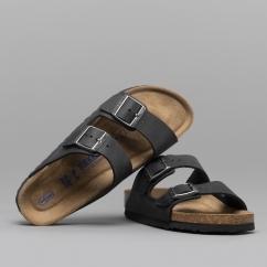 83ce1897d50d Birkenstock ARIZONA 752483 (Nar) Ladies Leather Two Strap Sandals Black