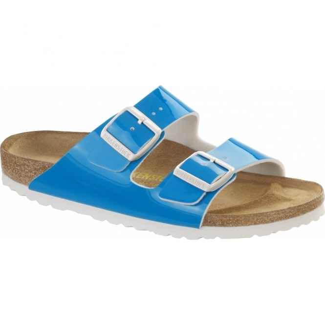 Birkenstock ARIZONA Ladies Buckle Sandals Neon Blue