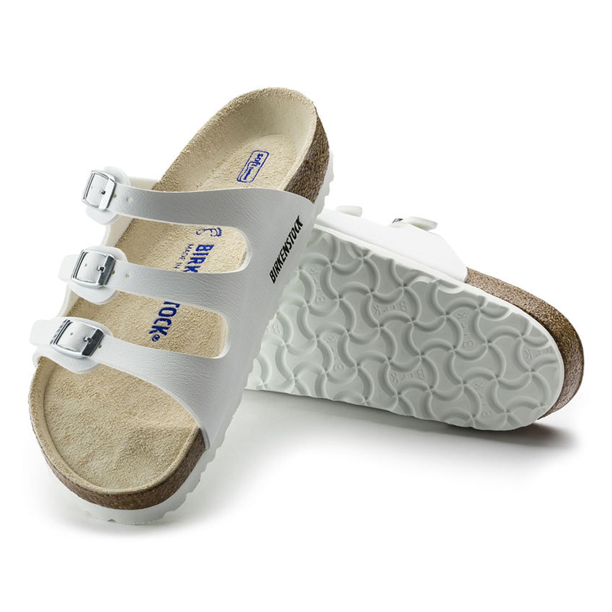8d1146cb4 Birkenstock FLORIDA 54061 Ladies Three Strap Sandals White