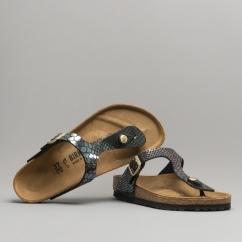 bfc703df52a Birkenstock GIZEH 1003464 Ladies Regular Fit Sandals Snake Black Multi