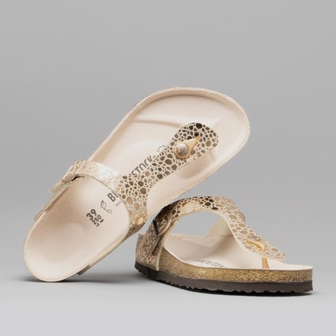 46f003b8882e Birkenstock GIZEH 1005674 Toe Post Sandals Metallic Stones Copper ...