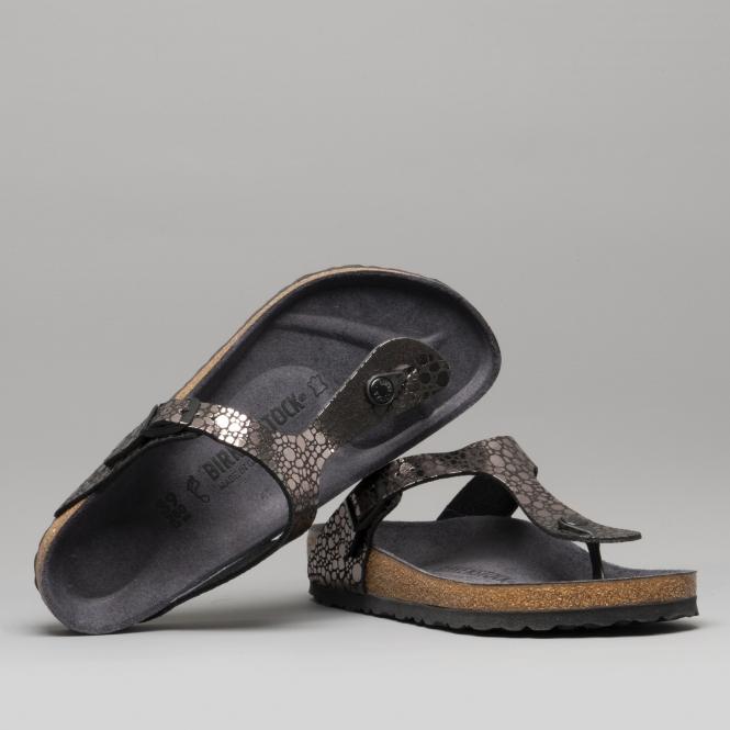 74abc1f80 Birkenstock GIZEH 1008865 Toe Post Sandals Metallic Stones Black ...