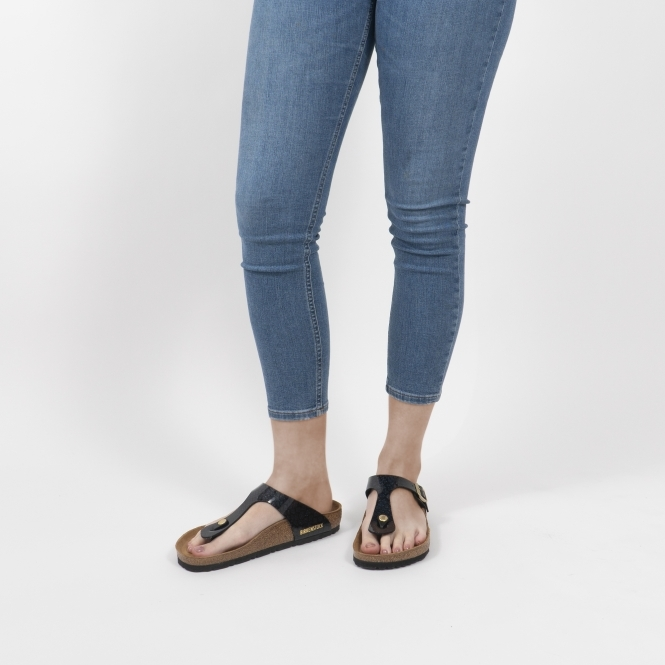fab94215ccc9 Birkenstock GIZEH 1009113 Ladies Toe Post Sandals Snake Black