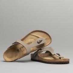 ad1a7d40fcc5 GIZEH 43391 (Reg) Ladies Birko-Flor Toe Post Sandals Stone