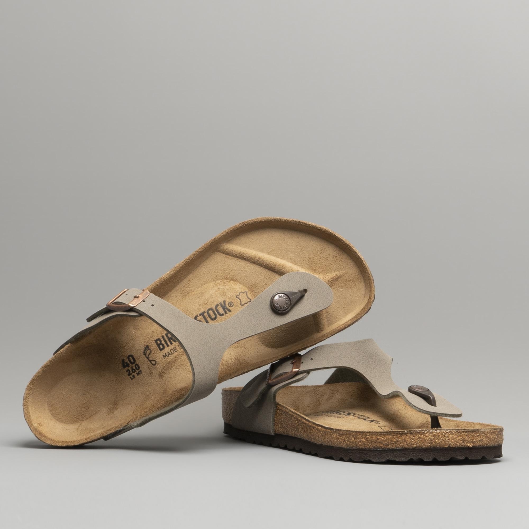 f072fac05d5 Birkenstock GIZEH 43391 Ladies Toe Post Sandals Stone