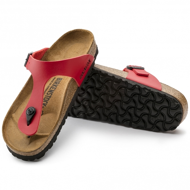 50eb4a6811f Birkenstock GIZEH 43741 Ladies Toe Post Sandals Cherry