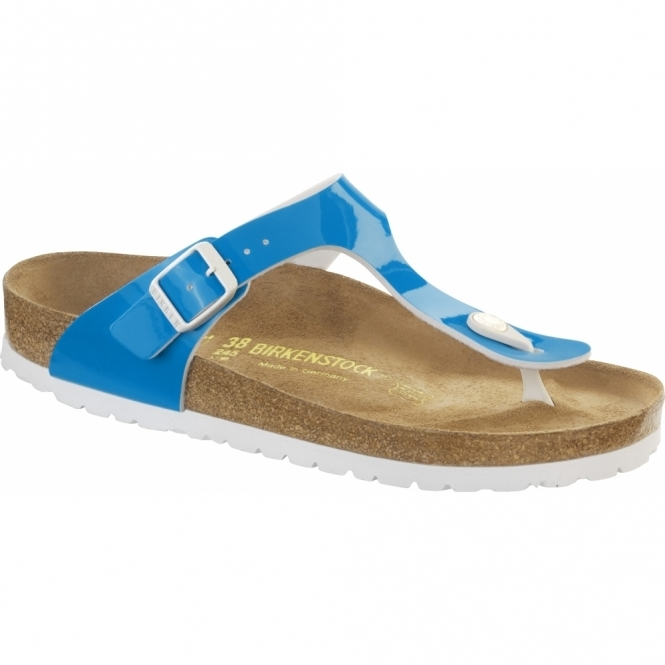 Birkenstock GIZEH Ladies Buckle Toe Post Sandals Neon Blue