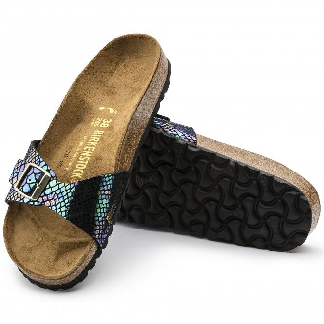 Birkenstock MADRID 1003460 Ladies Regular Fit Sandals Snake Black Multi 740f469b944