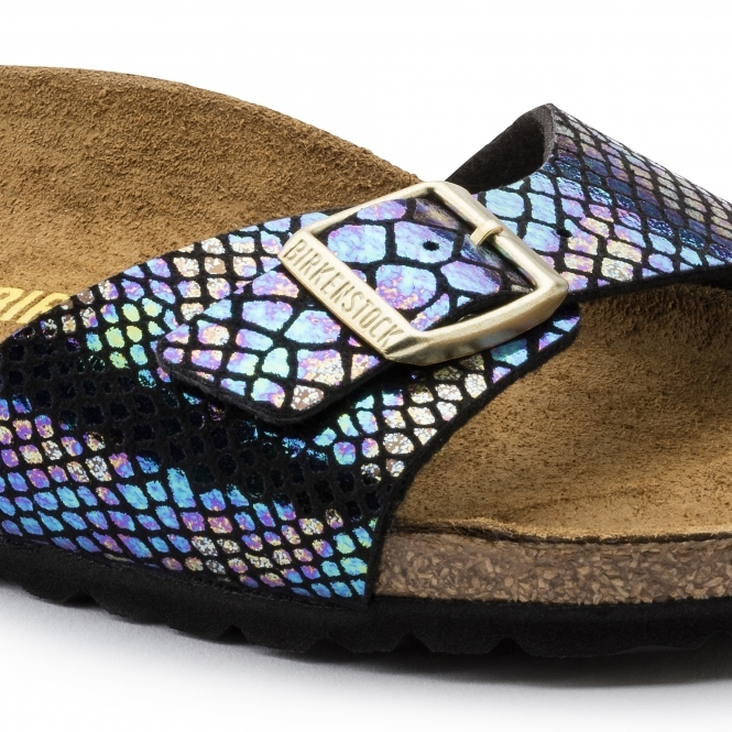 c015bc9c6d09 Birkenstock MADRID 1003460 Ladies Regular Fit Sandals Snake Black Multi