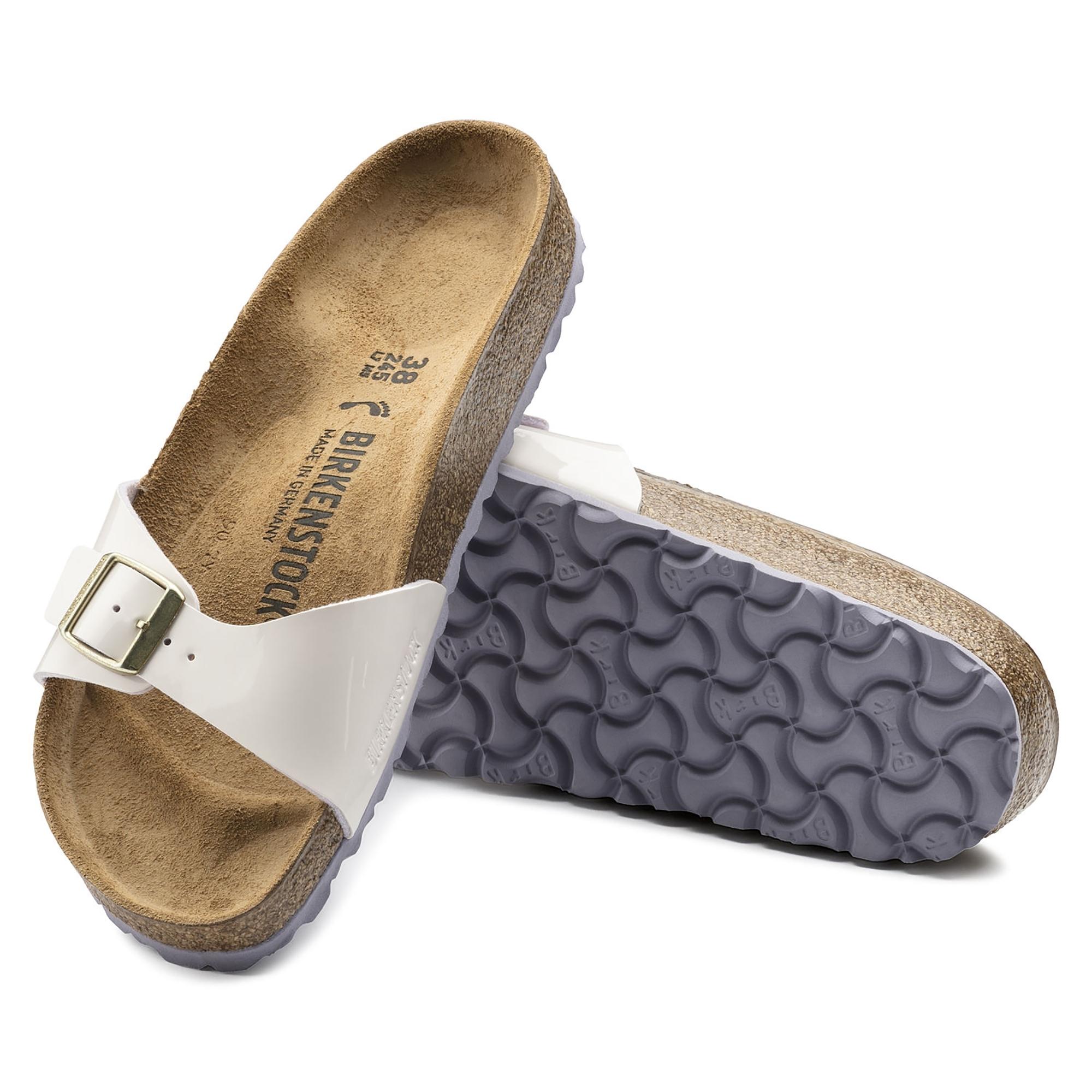 Birkenstock Madrid 1008457 Ladies One Strap Sandals Cream Pink Shuperb Sandal Strape On