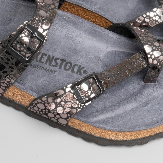 0119263600c Birkenstock MAYARI 1008809 (Reg) Ladies Birko-Flor Cross Strap Sandals  Metallic Stones Black
