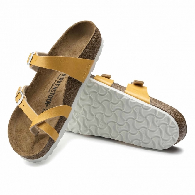 1cd5f429cd9 Birkenstock MAYARI 1008836 Ladies Cross Strap Sandals Amber Yellow ...