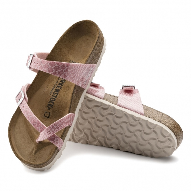 bbf8c913c57 Birkenstock MAYARI 1009111 Ladies Cross Strap Sandals Snake Rose ...
